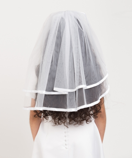 Satin Edge  Plain Veil