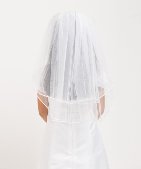 Pencil Edge Plain Veil